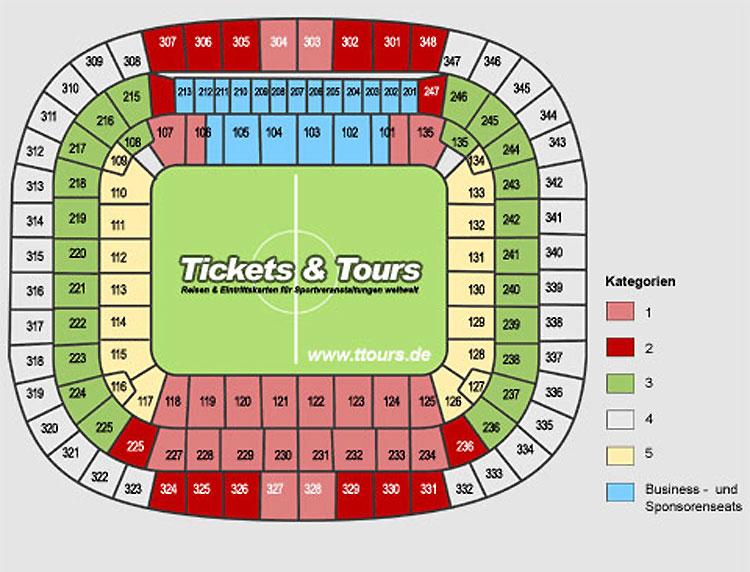 Bayern Stadionplan